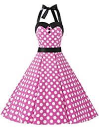 Amazon.it  vestiti anni 50 - Rosa   Vestiti   Donna  Abbigliamento b27ed6cde60f