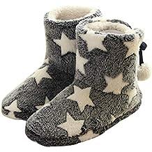 Summer Mae Donna Pantofole Inverno Caldo Stella Pantofola con Pom Poms 898faaf48d0