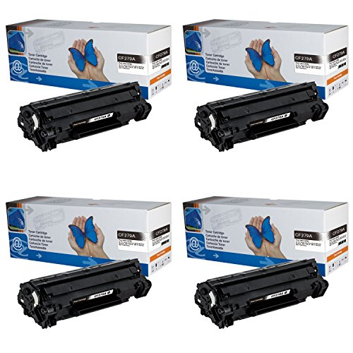 4x Toner CF279A (79A) für HP LaserJet Pro M12a, M12w, MFP M26a, MFP M26nw