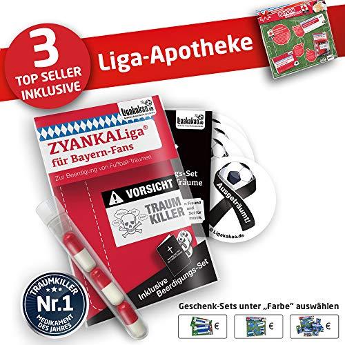 FC Bayern München Kapuzen-Pullover ist jetzt die Liga-APOTHEKE für FCB Fans by Ligakakao.de Herren Hoody fußball Fan Fleece Sweatshirt rot-weiß (Apotheke Sweatshirt)