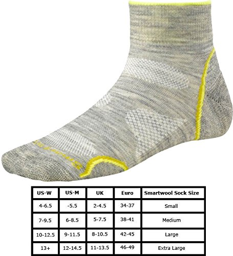 Smart Wool Women's Phd Outdoor Utra Light Mini ash/yellow L (EU 42-45)