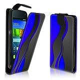wicostar Vertikal Flip Style Handy Tasche Case Schutz Hülle Schale Motiv Etui Karte Halter für Wiko Rainbow Jam - Variante VER37 Design3