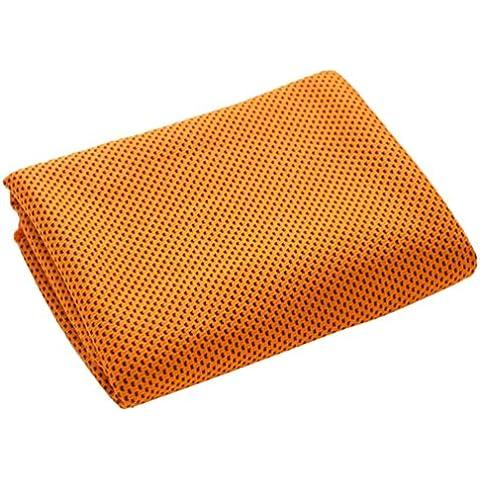 ThreeCat asciugamano freddo pad di raffreddamento per sport e fitness, arancione