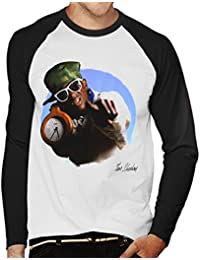 Tom Sheehan Official Photography - Flavour Flav Public Enemy White with Timepiece Men's Baseball Long Sleeved T-Shirt