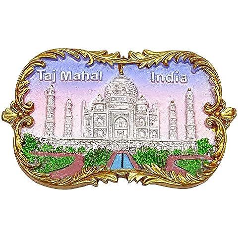 Mármol Poli Taj Mahal Iman Coleccionables india Souvenir Nevera