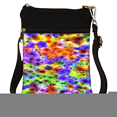 Snoogg Multicolored Jellyfish 2885 Cross Body Tote Bag / Shoulder Sling Carry Bag