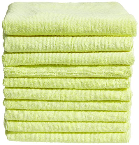 10-pack-of-yellow-lint-free-microfibre-exel-super-magic-cleaning-cloths-for-polishing-washing-waxing
