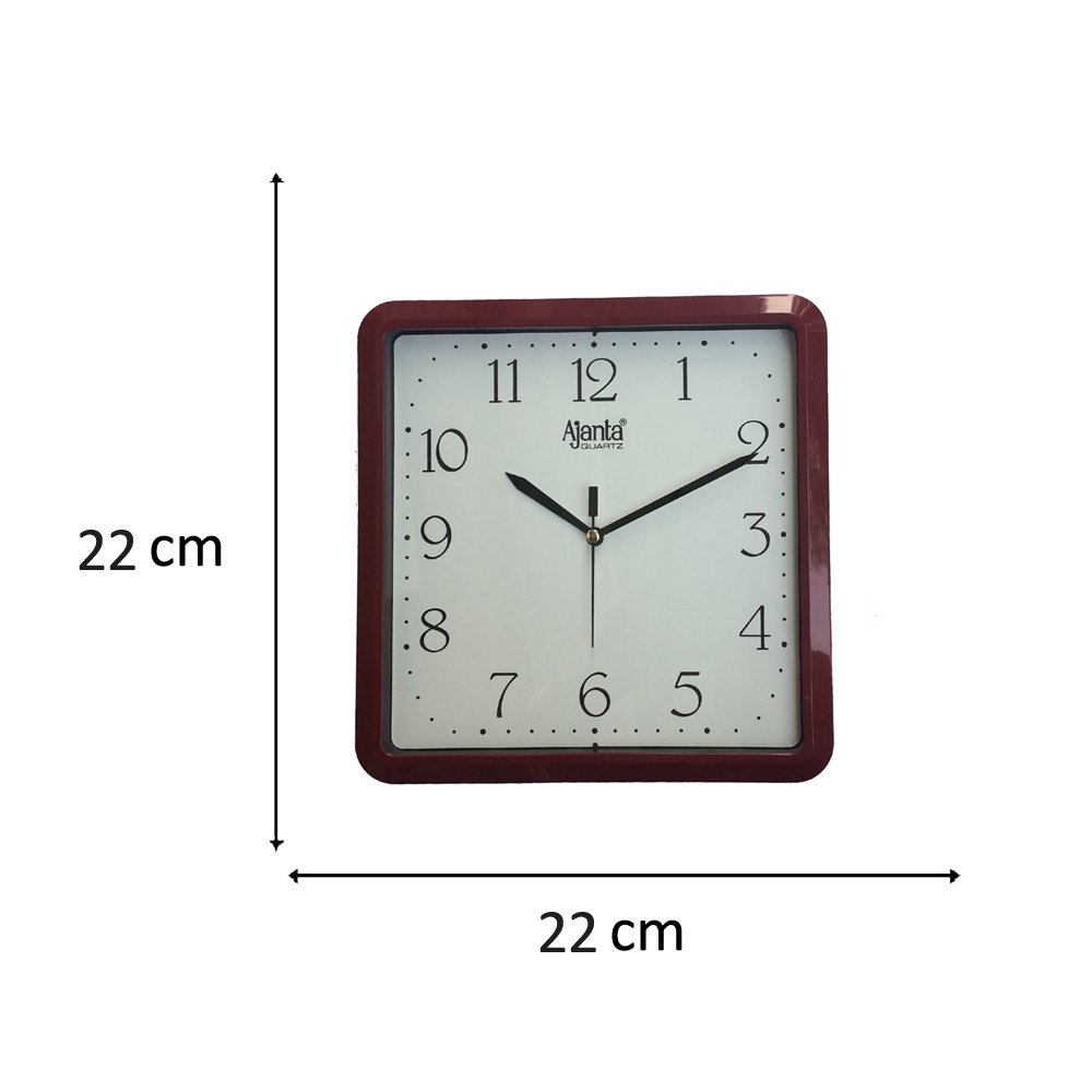 Buy ajanta analog wall clock white square online at low prices buy ajanta analog wall clock white square online at low prices in india amazon amipublicfo Images