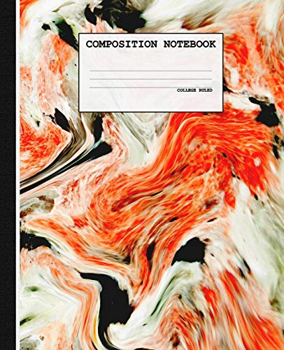 Ein Toter School Girl Kostüm - Composition Notebook: Red Marble College Ruled