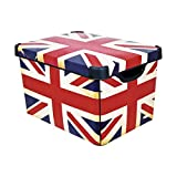 CURVER 04711-D99-49 Aufbewahrungsbox Deco's Stockholm L Union Jack Design, 20 L