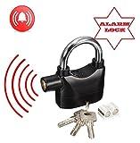 Hochwertige Security Alarm Lock Anti Diebstahl Sirene von Lizzy® Vorhängeschloss Bewegungsmelder mit 3Schlüssel
