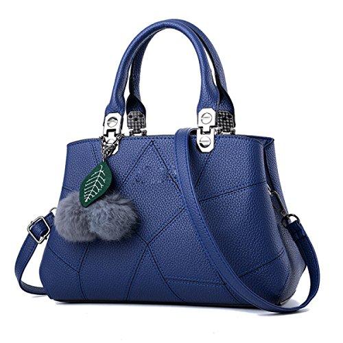 Frauen-Art- Und Weisetote-Schulter-Beutel-Dame-großer Entwerfer-Faux-Leder-neuer Handtaschen-Damen-Art- Und Weisegroßer Hobo-Beutel SapphireBlue