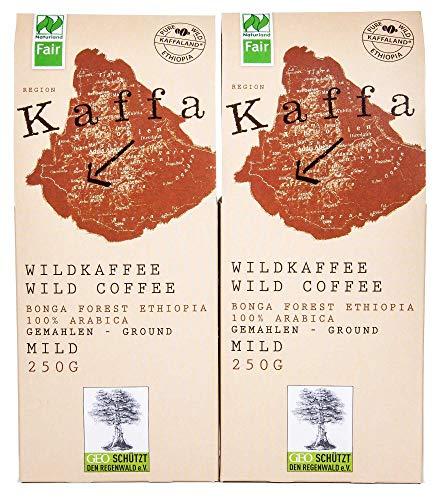 Original Food Kaffa Wildkaffee mild gemahlen 2er-Pack 2x250g bio