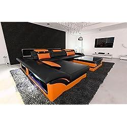 Designer Ledersofa MONZA L Form