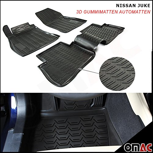 NISSAN JUKE Tappetini in gomma Polymer alta 3d gomma tappetini per auto