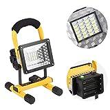 30W LED Arbeitsleuchte Baustrahler 24 LED Baulampe Flutlicht handlampe Tragbare Werkstattlampen Wasserdicht Außenstrahler