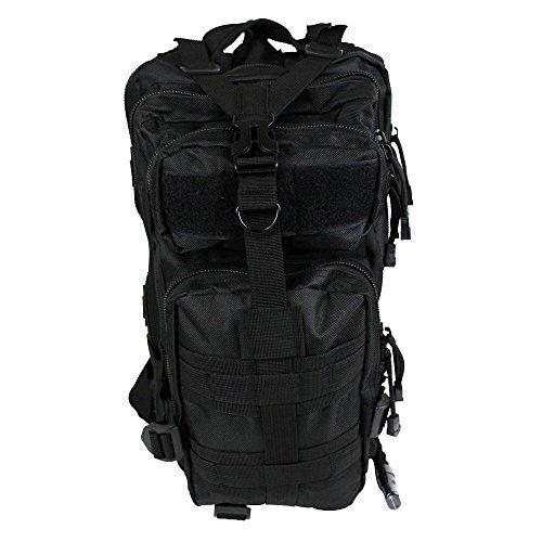 Militär-Rucksack inklusive Trinkblase schwarz - schwarz