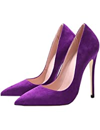 Jushee Women's Closed Pointed Toe Stiletto High Heels Dress Pumps