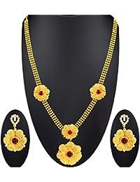 Spargz New Fashion Designer New Fashion Designer Gold Plated Alloy Metal Necklace Set For Women