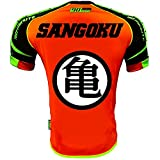Maillot Thailande Orange Rond Blanc Flocage Dos Model 2 - thailande, Maillot, Orange, Fluo, Thai, Pattaya, Phuket, Orange, Small