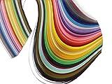 Leo's Choice Quilling Papierstreifen Quilling Kunststreifen 500 Streifen 50 Farben Quilling Papier Set 5 mm Breite 54 cm Länge (2 Packung)