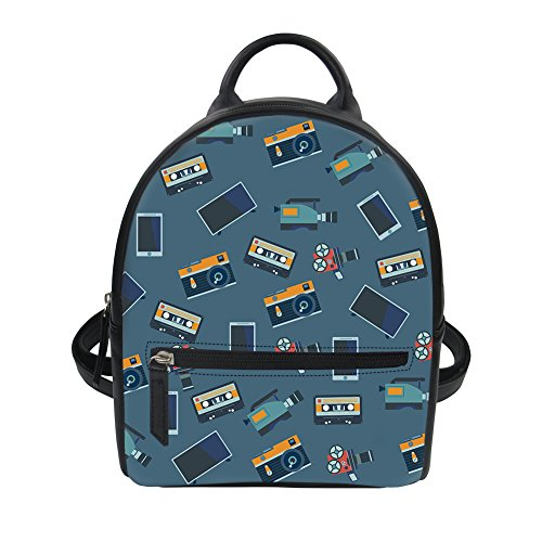 Coloranimal Movies Printing Backpack Purse for Women Shoulder Dailypack Grey