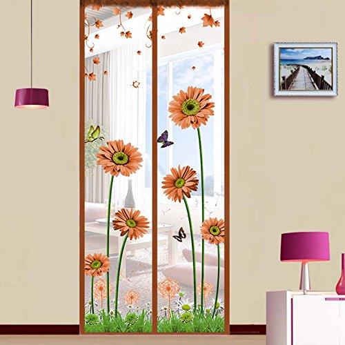 Dulplay telaio 3d velcro magnetica zanzariera magnetica porta finestra,tenda della maglia,porta magica mesh traspirabilità guarnizione fai da te finestra regolabile schermo-c 90x240cm(35x94inch)