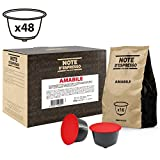 Note D'Espresso Amabile, Capsule per caffè, compatibili con macchine Dolce Gusto, 7 g x 48