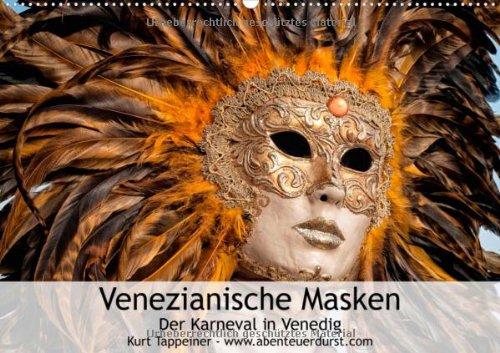 Venezianische Masken (Posterbuch DIN A2 quer): Der