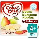 Vache Et Porte Les Poires, Les Bananes, Les Pommes Et Riz Bébé Fruits Pots 4 X 100G - Paquet de 4
