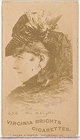 ' – Card 434 Miss Arlington from the Actors and Actresses series (N45 Type 1) for Virginia Brights Cigarettes Fine Art Print (45.72 x 60.96 cm)