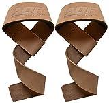 Ziweiba-Cinghie per il sollevamento pesi, supporto per i polsi adatte per chi pratica crossfit, per circuiti di allenamento bodybuilding, multicolore, Brown Leather