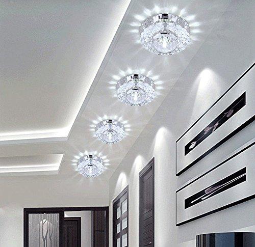 Lámpara Cristal Colgante de Techo LUZ LED de Interior, 3W, Decoració