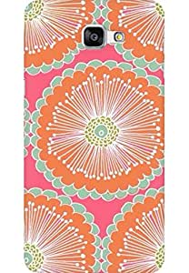 AMEZ designer printed 3d premium high quality back case cover for Samsung Galaxy A9 (flower patterns)