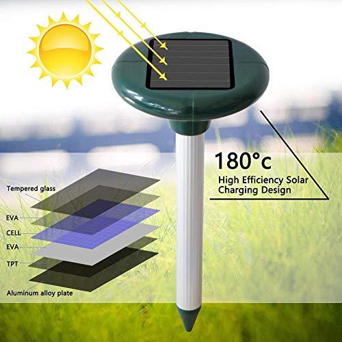 Vivibel 2 Stück Solar Maulwurfabwehr Ultrasonic Solar Maulwurfschreck