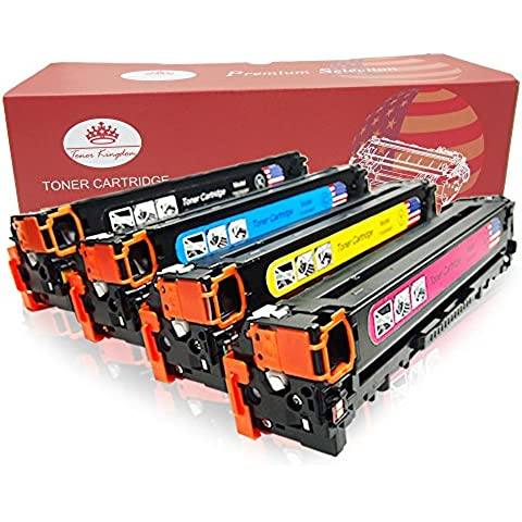 Toner Kingdom Compatible HP 305X CE410X CE411A CE412A CE413A Cartucho de tóner para HP LaserJet Pro 400 color MFP M475dn, MFP M475dw, M451dn, M451nw, M451dw, Pro 300 color MFP M375nw - 4PK,