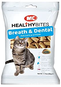 M&C Breath & Dental Healthy Bites Treats for Cats & Kittens 50g (Pack of 6)