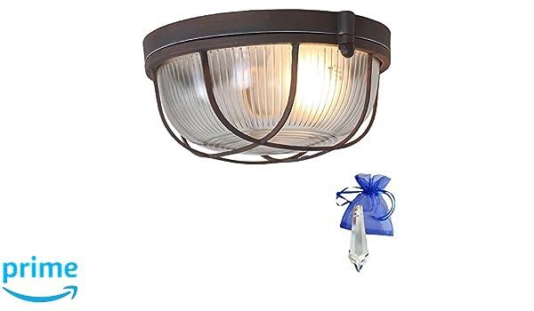 Plafoniere Da Nave : Boot lampada in ruggine effetto vintage rotondo utilizzabile come