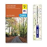 Ordnance Survey Pack - Explorer Map 120 ~ Chichester, South Harting & Selsey plus scale ruler