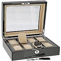 Di alta qualità, per 8-Porta orologi in fibra di carbonio, Aevitas Finitura con impiallacciatura