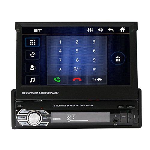 T/él/écommande Soutien FM AM GPS USB TF AUX Radio Autoradio MP5 Player Acouto 4,1 Pouces HD Voiture St/ér/éo Ecran Tactile Voiture Bluetooth MP5 Player avec Cam/éra de Recul