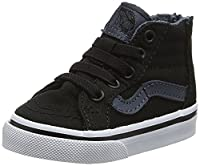 Vans Baby Boys TD SK8-Hi Zip Walking Shoes, Black (Canvas Black/Dark Slate), 25 UK 18 EU