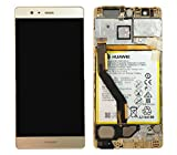Original Huawei P9 Plus LCD Display Bildschirm Digitizer Anzeige Glas Touchscreen Akku & Rahmen Gold P/N: 02350SUQ