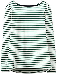 Joules Harbour Jersey Top Oakwood Green Stripe