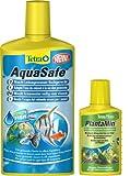 Tetra Aquasafe Qualitäts-Wasseraufbereiter, 500 ml mit Gratis Plantamin Pflanzendünger, 100 ml