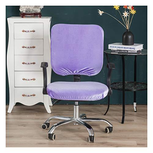 HONGBI Stretch-Sitzbezüge für Büro und Esszimmer,Jacquard-Esszimmerstuhl,Stuhlhussen zum Office Bürodrehstuhl Drehstuhl Schreibtitschstuhl Lila2 Kissen