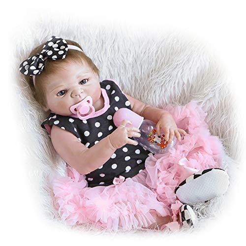 0Miaxudh Rebornpuppe, niedliche künstliche 3D kleines Baby Rebornpuppe, Krankenschwestern Baden Praxis Säuglingsspielzeug, schlafen Begleiten Spielzeug -
