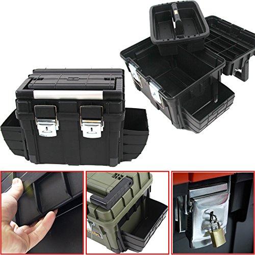 Kunststoff Werkzeugkoffer HD BOX COMPACT, 65x35cm Kasten Werzeugkiste Sortimentskasten Werkzeugkasten Anglerkoffer