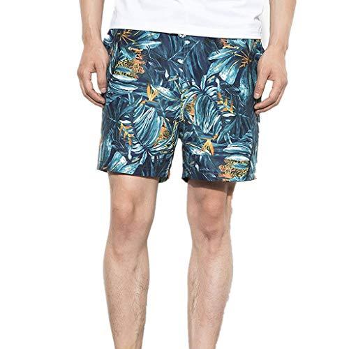 Aoogo Herren Schnelltrocknend Badeshorts Sommer Strandshorts Beachshorts mit Reißverschlusstasche