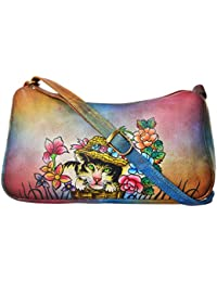 LEATHER MADE Women's Sling Bag (Multi-Coloured, MM004.02)